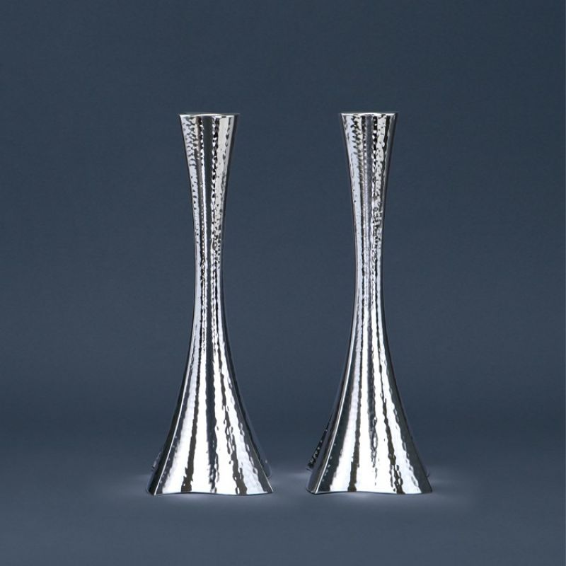 Hammered Sterling Silver Bolero Candlesticks