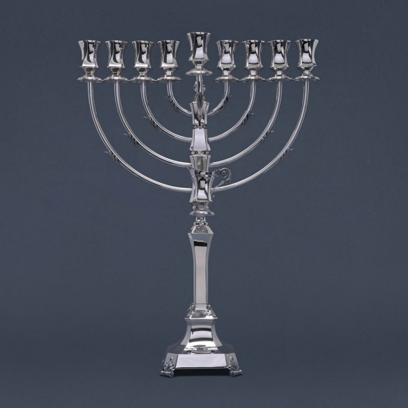 Large Sterling Silver Menorah