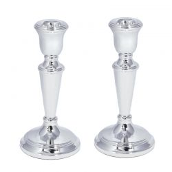 English Sterling Silver Candlesticks 15cm