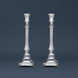 Square Sterling Silver Candlesticks