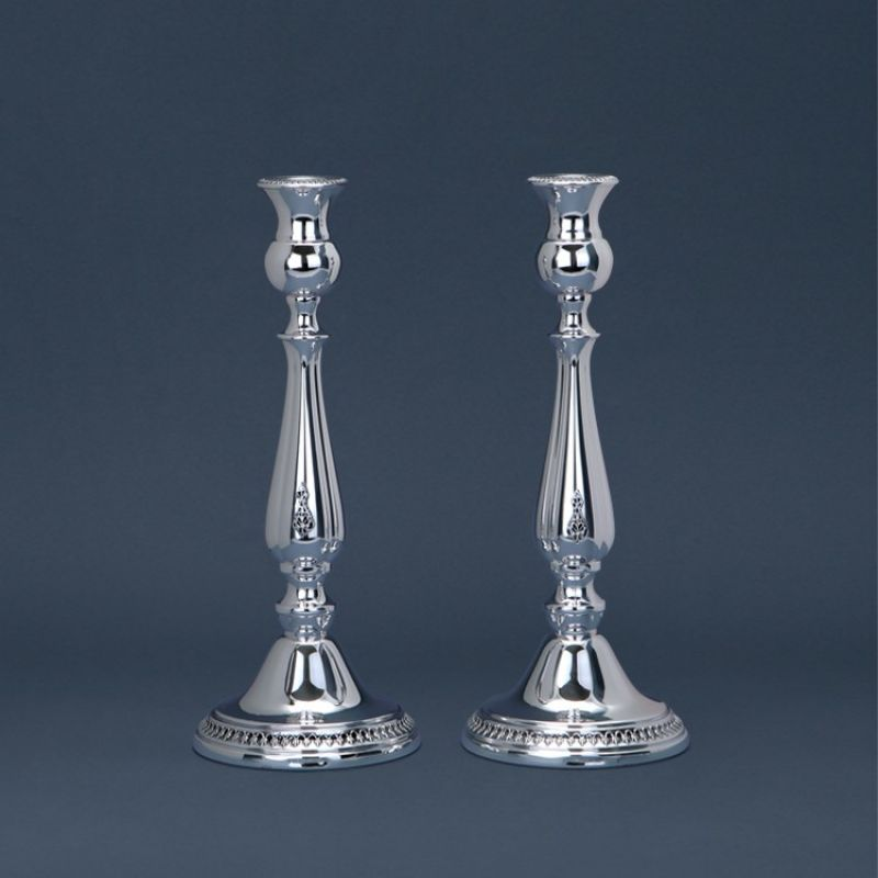 Sterling Silver Filigree  Candlesticks