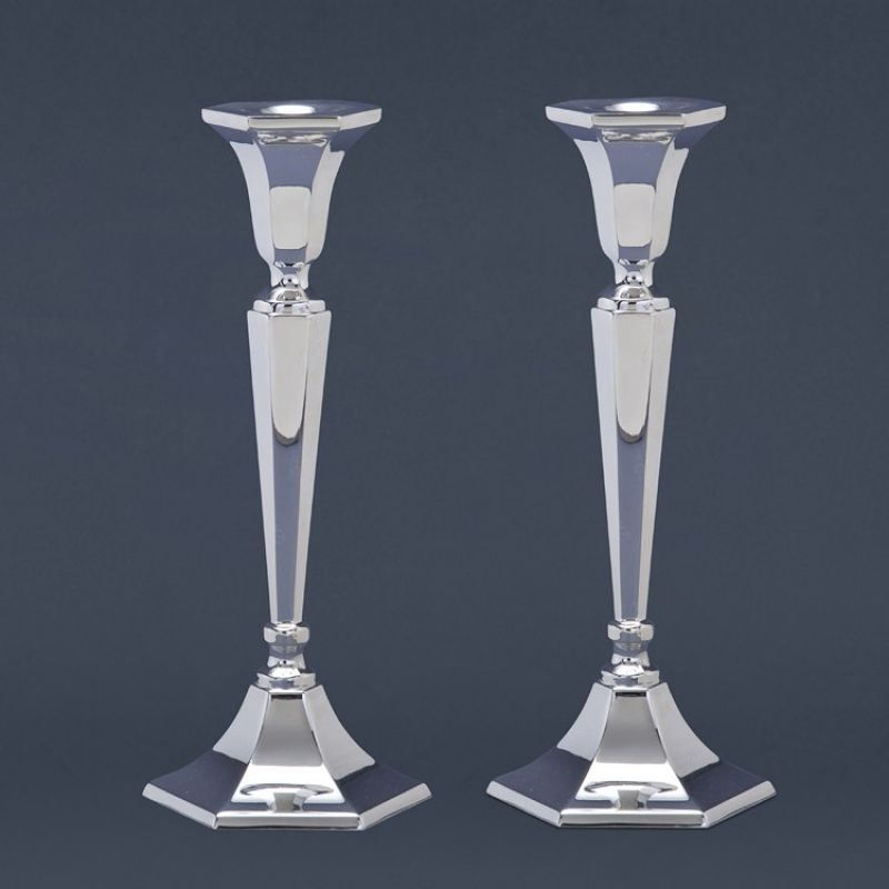 Sterling Silver Hexagon Candlesticks